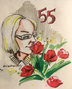 Поздравления с юбилеем 55 лет женщине в стихах