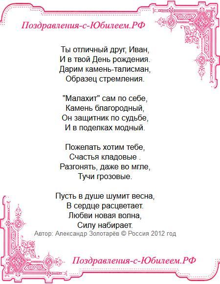 Поздравительная открытка «Поздравление Ивану на день рождения»
